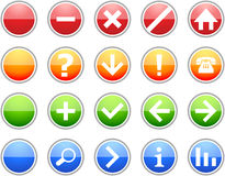 Colored Sign Icons. Colored Sign Icon Set for Web Stock Image