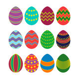 Colored silhouettes of vector easter eggs Stock Photos