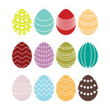 Colored silhouettes of vector easter eggs Stock Photo