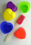 Colored silicone bakeware Royalty Free Stock Images