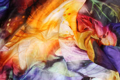 Colored silk background Royalty Free Stock Photography