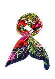 Colored silk scarf, isolate Stock Photos