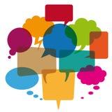 Colored Simple Speech Bubbles Stock Photos