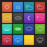 Colored simple weather icons Stock Photo