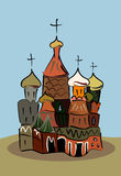 Colored sketch of traditional russian church Stock Photos