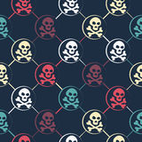 Colored Skull Pattern Stock Images