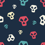 Colored Skull Pattern Small Royalty Free Stock Photos