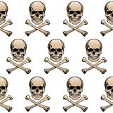 Colored skulls background Stock Images