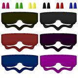 Colored Sleeping Masks Stock Images