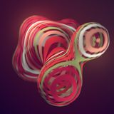 Colored sliced shape. Computer generated abstract geometric 3D render illustration vector illustration