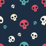 Colored Small Skull Pattern Royalty Free Stock Image