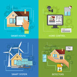 Colored Smart House Icon Set Royalty Free Stock Photography