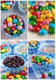Colored smarties Stock Photos