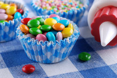Colored smarties Stock Photo