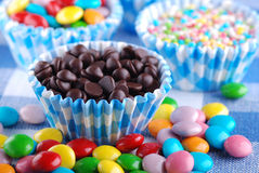 Colored smarties Royalty Free Stock Photography