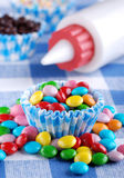Colored smarties Stock Image