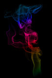Colored smoke Stock Photography