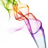Colored smoke. Beautiful colored abstract smoke isolated on white Stock Image