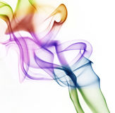 Colored smoke. Beautiful colored abstract smoke isolated on white Stock Images