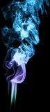 Colored smoke on black background abstract art texture fog. Elem Royalty Free Stock Photo