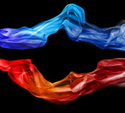Colored smoke Stock Image