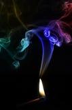 Colored smoke burning match Royalty Free Stock Image