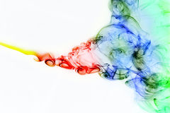 Colored smoke curves Stock Image