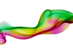 Colored smoke curves Royalty Free Stock Image