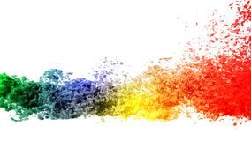Colored smoke. 3D render of Colored smoke stock illustration