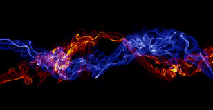Colored smoke Stock Images
