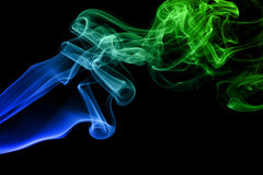 Colored smoke isolated Royalty Free Stock Photos