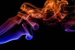 Colored smoke isolated Stock Images