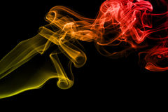 Colored smoke isolated on black background Royalty Free Stock Photography