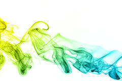 Colored smoke isolated on black background Stock Photography