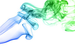 Colored smoke isolated on white Royalty Free Stock Photos