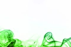 Colored smoke isolated on white Stock Images