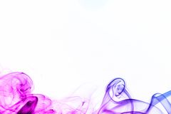Colored smoke isolated on white Royalty Free Stock Image