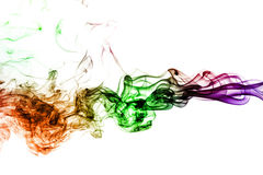 Colored smoke isolated on white background Stock Image