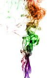 Colored smoke isolated on white background Royalty Free Stock Photo