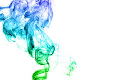 Colored smoke isolated on white background Stock Images