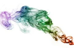 Colored smoke. Nice colored smoke isolated on white background Stock Photography