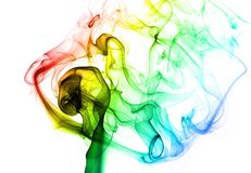 Colored smoke. Nice colored smoke  on white background Stock Images