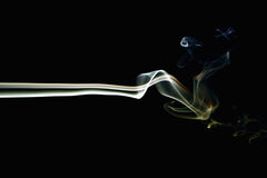 Colored Smoke On Black 5 Royalty Free Stock Image