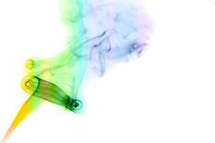 Colored smoke over white Royalty Free Stock Photography