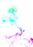 Colored smoke over white Royalty Free Stock Images