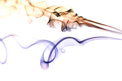 Colored Smoke on White 5 Stock Photography