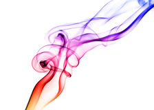 Colored smoke on white Stock Images