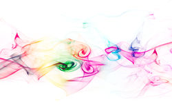 Colored smoke on white background Stock Images