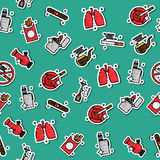 Colored smoking pattern Royalty Free Stock Images