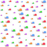 Colored snails pattern Stock Photography